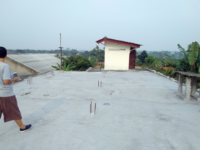 Part of the rooftop
