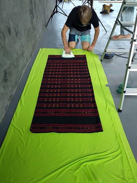 Stefan ironing