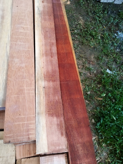 Beautiful wood for the bed frames.